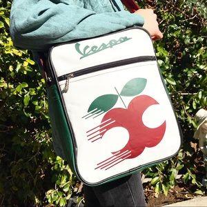 Vespa Leather Apple Logo Crossbody Shoulder Bag